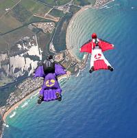 Полёт в костюме бэтмена